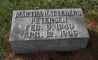 HATTEBERG PETERSEN, MARTHA - Clinton County, Iowa | MARTHA HATTEBERG PETERSEN
