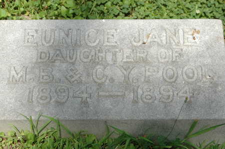 POOL, EUNICE JANE - Clinton County, Iowa   EUNICE JANE POOL