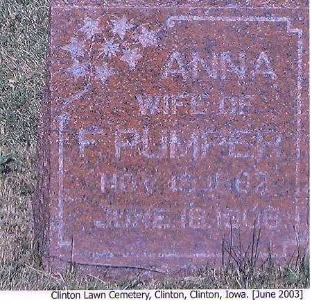 PUMPER, ANNA - Clinton County, Iowa | ANNA PUMPER