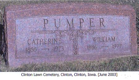 PUMPER, CATHERINE - Clinton County, Iowa | CATHERINE PUMPER