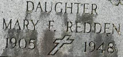 REDDEN, MARY F. - Clinton County, Iowa   MARY F. REDDEN