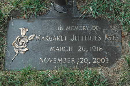 JEFFERIES REES, MARGARET - Clinton County, Iowa | MARGARET JEFFERIES REES