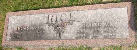 RICE, HATTIE M. - Clinton County, Iowa | HATTIE M. RICE
