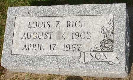 RICE, LOUIS Z. - Clinton County, Iowa | LOUIS Z. RICE