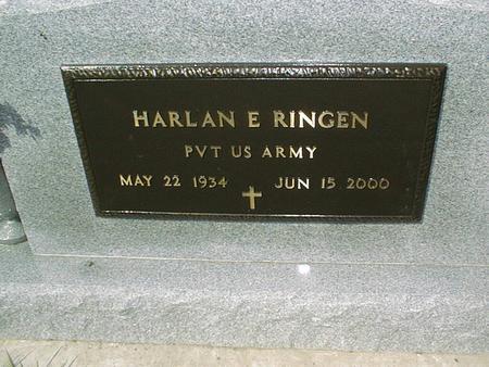 RINGEN, HARLAN E. - Clinton County, Iowa | HARLAN E. RINGEN