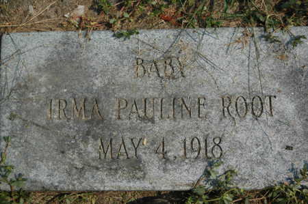 ROOT, IRMA PAULINE - Clinton County, Iowa | IRMA PAULINE ROOT