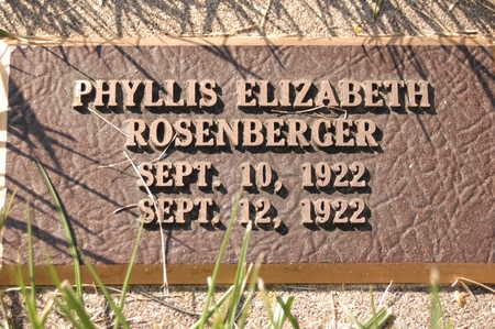 ROSENBERGER, PHYLLIS ELIZABETH - Clinton County, Iowa | PHYLLIS ELIZABETH ROSENBERGER