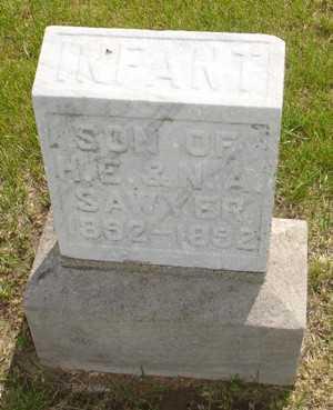 SAWYER, INFANT SON - Clinton County, Iowa | INFANT SON SAWYER