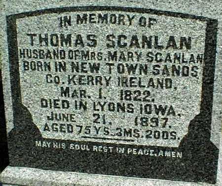 SCANLAN, THOMAS - Clinton County, Iowa | THOMAS SCANLAN