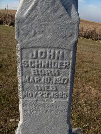 SCHNIDER, JOHN - Clinton County, Iowa | JOHN SCHNIDER