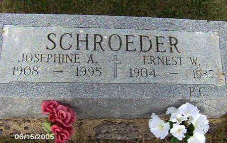 SCHROEDER,  JOSEPHINE A - Clinton County, Iowa |  JOSEPHINE A SCHROEDER