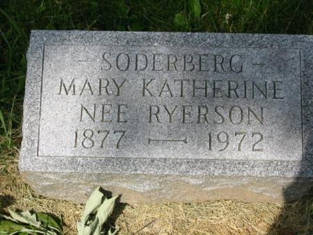 SODERBERG, MARY KATHERINE - Clinton County, Iowa | MARY KATHERINE SODERBERG