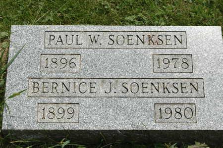 SOENKSEN, BERNICE J. - Clinton County, Iowa | BERNICE J. SOENKSEN