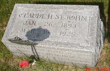 ST. JOHN, CLAUDE H. - Clinton County, Iowa | CLAUDE H. ST. JOHN