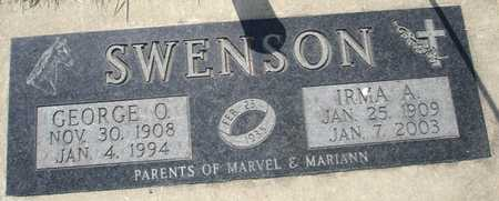 SWENSON, GEORGE O. - Clinton County, Iowa | GEORGE O. SWENSON