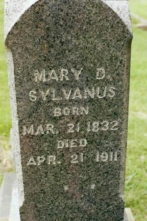 EVANS SYLVANUS, MARY D. - Clinton County, Iowa | MARY D. EVANS SYLVANUS