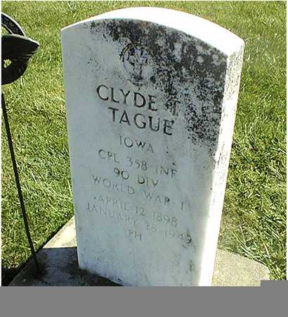 TAGUE, CLYDE T. - Clinton County, Iowa | CLYDE T. TAGUE