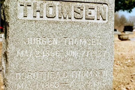 BOSHOM THOMSEN, DOROTHEA CHRISTINE - Clinton County, Iowa | DOROTHEA CHRISTINE BOSHOM THOMSEN