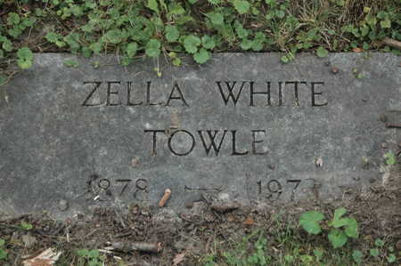 WHITE TOWLE, ZELLA - Clinton County, Iowa | ZELLA WHITE TOWLE