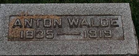 WALDE, ANTON - Clinton County, Iowa | ANTON WALDE