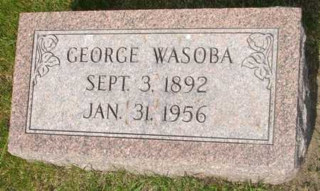 WASOBA, GEORGE - Clinton County, Iowa | GEORGE WASOBA