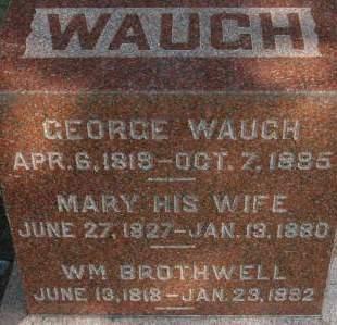 WAUGH, GEORGE - Clinton County, Iowa | GEORGE WAUGH