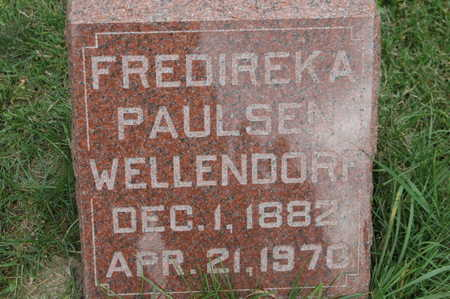 PAULSEN WELLENDORF, FREDIREKA - Clinton County, Iowa | FREDIREKA PAULSEN WELLENDORF