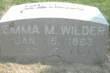 WILDER, EMMA M. - Clinton County, Iowa   EMMA M. WILDER