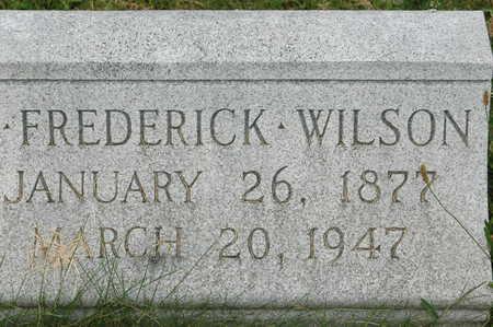 WILSON, JOHN FREDERICK - Clinton County, Iowa | JOHN FREDERICK WILSON