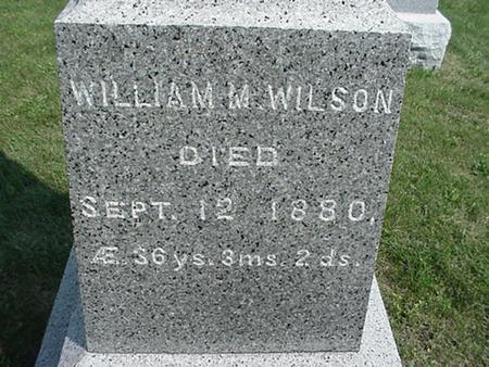 WILSON, WILLIAM - Clinton County, Iowa | WILLIAM WILSON