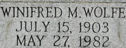 WOLFE, WINIFRED M. - Clinton County, Iowa | WINIFRED M. WOLFE
