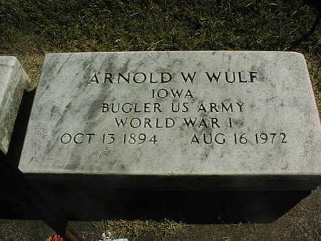 WULF, ARNOLD W. - Clinton County, Iowa | ARNOLD W. WULF