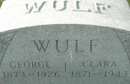 WULF, GEORGE - Clinton County, Iowa | GEORGE WULF