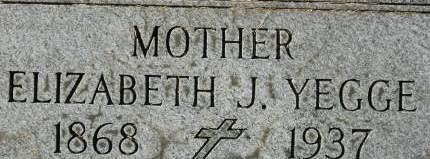 YEGGE, ELIZABETH J. - Clinton County, Iowa   ELIZABETH J. YEGGE