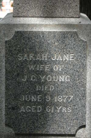 YOUNG, SARAH JANE - Clinton County, Iowa | SARAH JANE YOUNG