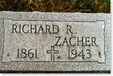 ZACHER, RICHARD R. - Clinton County, Iowa | RICHARD R. ZACHER