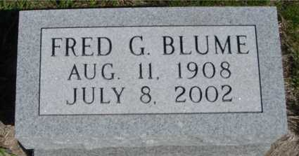 BLUME, FRED G. - Crawford County, Iowa | FRED G. BLUME