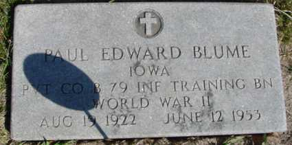 BLUME, PAUL EDWARD - Crawford County, Iowa | PAUL EDWARD BLUME