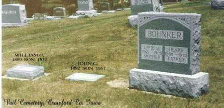 BOHNKER, WILLIAM, JOHN, THERESE & HENRY - Crawford County, Iowa | WILLIAM, JOHN, THERESE & HENRY BOHNKER