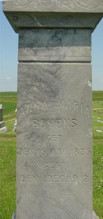 BOYENS, ANNA MARIA - Crawford County, Iowa | ANNA MARIA BOYENS