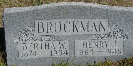 BROCKMAN, HENRY J. & BERTHA - Crawford County, Iowa | HENRY J. & BERTHA BROCKMAN