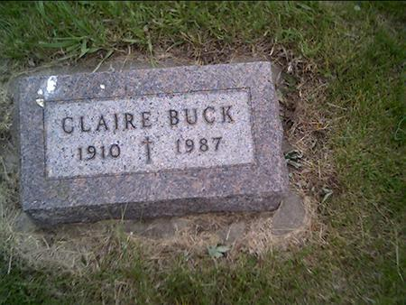 BUCK, CLAIRE - Crawford County, Iowa | CLAIRE BUCK