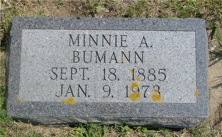 BUMANN, MINNIE A. - Crawford County, Iowa | MINNIE A. BUMANN