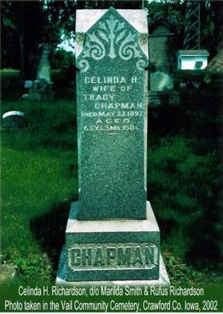 CHAPMAN, CELINDA H. (RICHARDSON) - Crawford County, Iowa   CELINDA H. (RICHARDSON) CHAPMAN