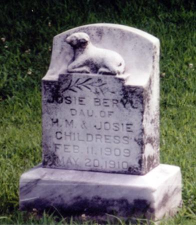 CHILDRESS, JOSIE BERYL - Crawford County, Iowa   JOSIE BERYL CHILDRESS