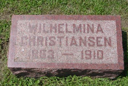 CHRISTIANSEN, WILHELMINA - Crawford County, Iowa | WILHELMINA CHRISTIANSEN