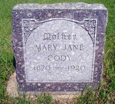 CODY, MARY JANE - Crawford County, Iowa | MARY JANE CODY