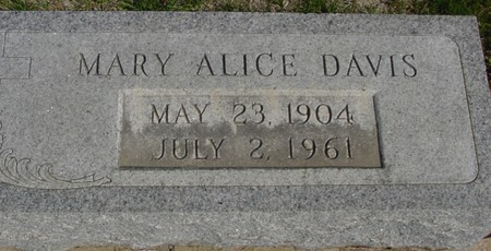 DAVIS, MARY ALICE - Crawford County, Iowa | MARY ALICE DAVIS