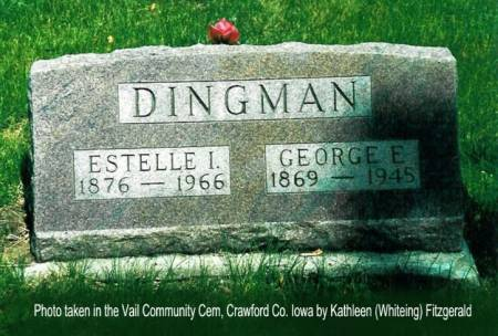 DINGMAN, GEORGE ERWIN & ESTELLA IOLA (COLLINS) - Crawford County, Iowa | GEORGE ERWIN & ESTELLA IOLA (COLLINS) DINGMAN