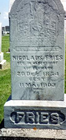 FRIES, NICOLAUS - Crawford County, Iowa | NICOLAUS FRIES